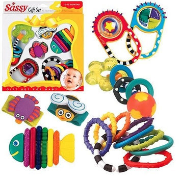 Sassy Baby's First Toy 6 Piece Gift Set (Discontinued by Manufacturer)