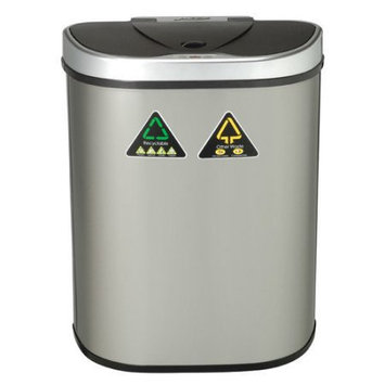 Nine Stars Infrared Touchless Automatic Motion Sensor Lid Trash Can Recycler