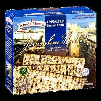 Yehuda Matzos Jerusalem Baked Matzo Thins Unsalted