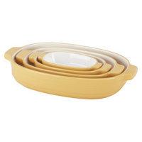KitchenAid 4 Piece Nesting Ceramic Bakeware Set - Yellow