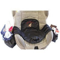 Kiddie Kangaroo Seat Protector with Adjustable Pockets - Black (Discontinued by Manufacturer)