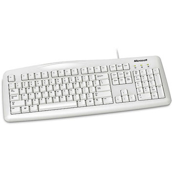 Microsoft 200 Keyboard - Wired - White