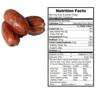 BULK B Dates, Organic, Pttd, Deglet, lb (pack of 15 )