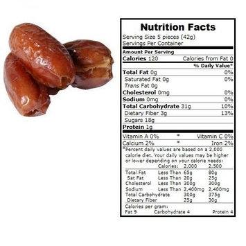 BULK B Dates, Organic, Pttd, Deglet, lb (pack of 15 )