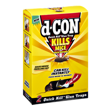 D-Con Quick Kill Glue Trap Kills Mice - 2 CT