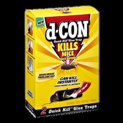 D-Con Quick Kill Glue Trap Kills Mice - 2 CT