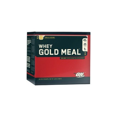 Optimum Nutrition Whey Gold Meal, Vanilla Custard, 20 Packets, 3.34 Lbs.