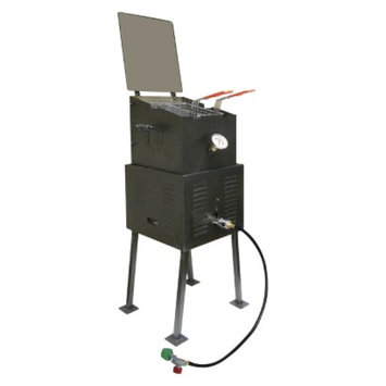 King Kooker Deluxe Multi-Purpose Outdoor Cooker Package with Black