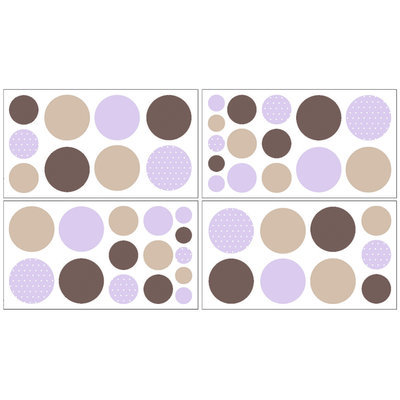 Sweet Jojo Designs Mod Dots Purple Collection Wall Decal Stickers