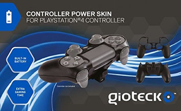 Goodbetterbest Ltd PS4 Controller Skin Plus Black W/Built In Battery Playstation 4