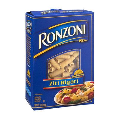 Ronzoni Enriched Macaroni Product Ziti Rigati