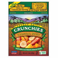 Crunchies Freeze Dried Snack Food Tropical Fruit