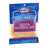 Kraft Reduced Fat Shredded Cheese Colby & Monterey Jack Made with 2% Milk