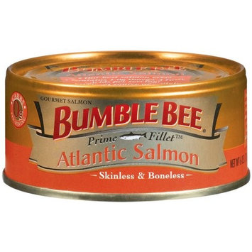 Bumble Bee Prime Fillet Atlantic Salmon, 6-Ounce Cans (Pack of 12)