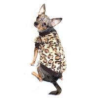 Hip Doggie HD-7BCV-XL Extra Large Brown Cheetah Mink Sweater Vest