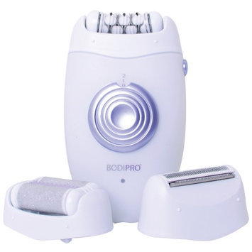 Viatek Consumer Products Group Bodipro 3 In 1 Groomer: Exfoliate, Shave, Epilate Beauty Skin Hair Razor