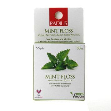 RADIUS Floss, Vegan Xylitol, Mint, 55 yd