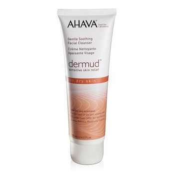AHAVA Dermud Gentle Soothing Facial Cleanser for Dry Skin, 4.2 fl. oz.