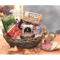 Gift Basket 851182 Classic Snack Gift Basket with Lovely Green Wicker Basket