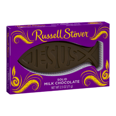 Russell Stover Jesus Fish Solid Milk Chocolate