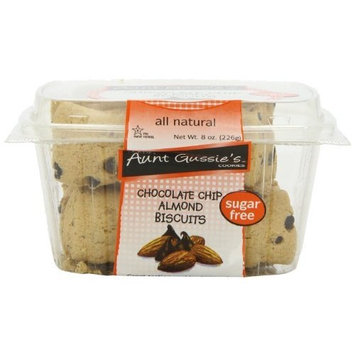 Aunt Gussie's Sugar Free Chocolate Chip Almond Biscuit, 8-Ounce Tubs (Pack of 4)