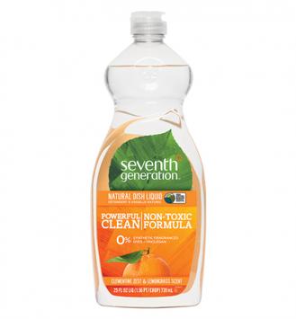 Seventh Generation Lemongrass & Clementine Zest Natural Dish Liquid