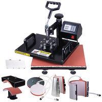 Yescomusa 6in1 12x15 Heat Press Transfer Machine Digital Sublimation T-Shirt 2 Mug presse Hat Plate Cap