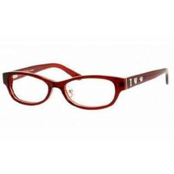 Juicy Couture Eyeglasses 134/F Purple Burgundy Crystal 51-16-135