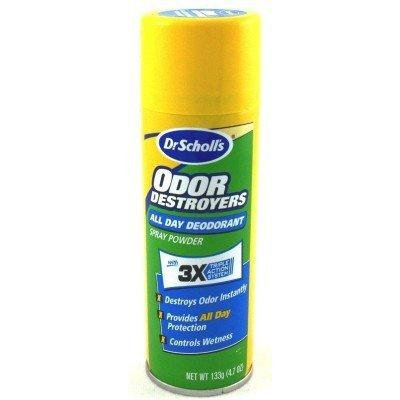 Dr. Scholl's Odor Destroyer Deodorant Spray 4.7 oz. (3-Pack) with Free Nail File