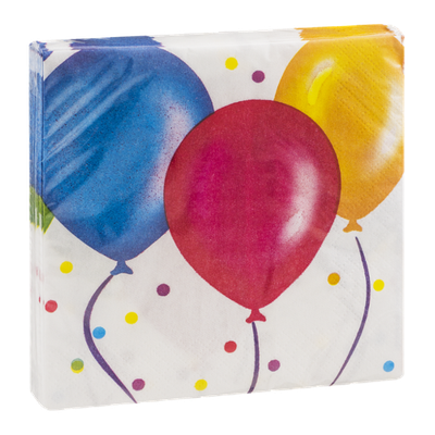 Party Creations Birthday Balloons Napkins - 18 CT