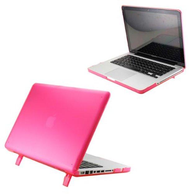 Pink Matte Transparent Hard PC Case Cover for MacBook Pro 13