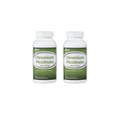 GNC Chromium Picolinate 200 Supplement 180 tablets 2 Pack