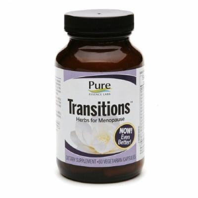 Pure Essence Labs Transitions , Herbs For Meopause, Capsules 60 ea