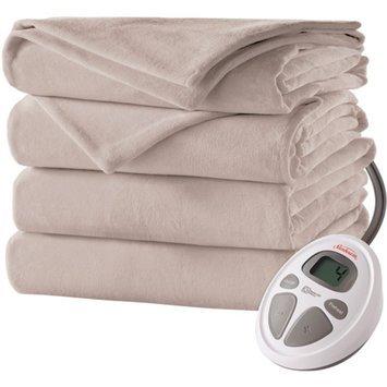 Sunbeam Heated Velvet Plush Electric Blanket