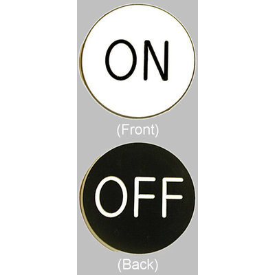 Trademark Poker On / Off Chip Button for Craps