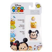 Jakks HK Ltd. Disney Tsum Tsum 3 Pack Series 1 Figures - Cinderella, Winnie the Pooh, Mickey