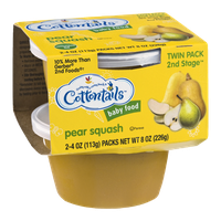 Cottontails 2nd Stage Baby Food Packs Pear Squash