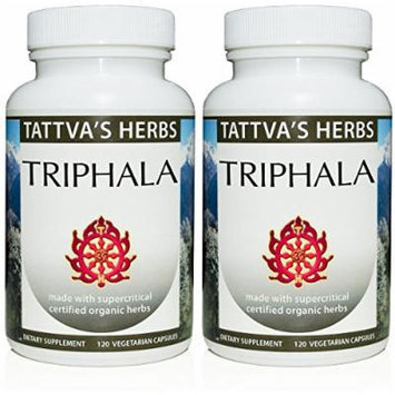 Triphala Extract 500mg 240 Vcaps (Pack of 2 - 120 ct./ea)