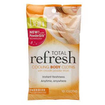 Ban Total Refresh Cooling Body Cloths, Energize, 10 ea