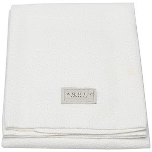 Aquis Essentials Lisse White Hair Towel