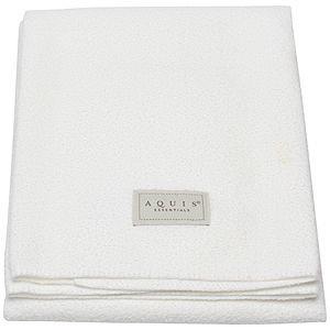 Aquis Essentials Lisse White Hair Towel