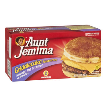 Aunt Jemima Sausage, Egg & Cheese on Pancakes Griddlecake Sandwiches - 2 CT