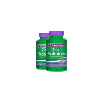 Zinc Picolinate 50mg 2 Bottles x 180 Capsules