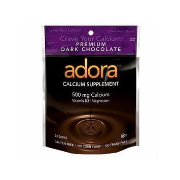 Adora Calcium Supplement, 500mg, Dark Chocolate 30 disks