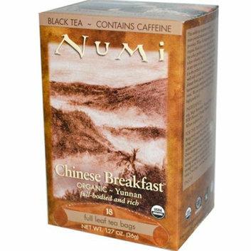 Numi Tea Numi Chinese Breakfast Yunnan Black Tea 18 Tea Bags Case of 6