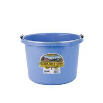 Miller Mfg Miller Manufacturing P8BERRYBLUE Plastic Round Back Bucket for Horses, 8-Quart