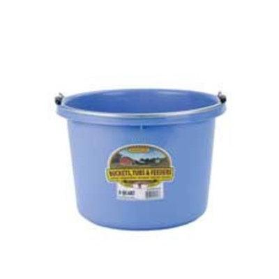 Miller Mfg Miller Manufacturing P8BERRYBLUE Plastic Round Back Bucket for Horses, 8-Quart