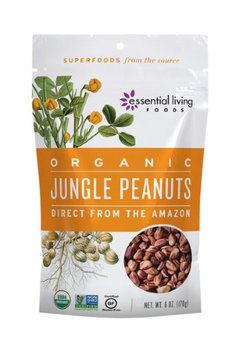 Jungle Peanuts, Wild & Raw Essential Living Foods 8 oz Nuts