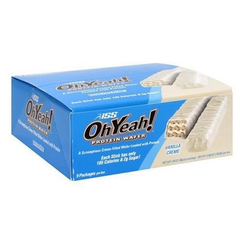 Iss Ohyeah ISS OH YEAH Protein Wafer Vanilla Creme, 9 -Count, 12.06 -Ounce Box