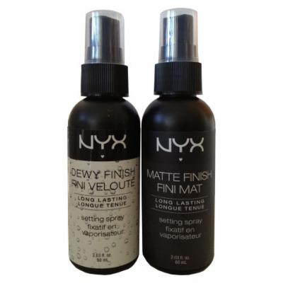 NYX DEWY & MATTE FINISH SET - LONG Lasting Lightweight Water Based Setting Spray 2.03 fl. oz.